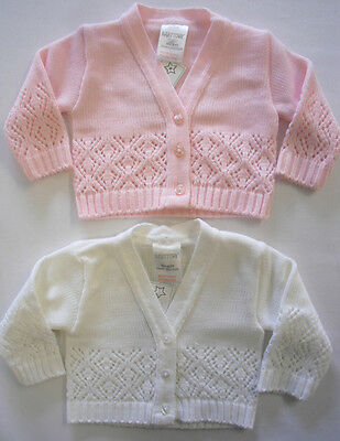 c73ea03e8a8d BABYPREM BABY CLOTHES Girls Pink Cream Knitted Cardigan Sweater ...
