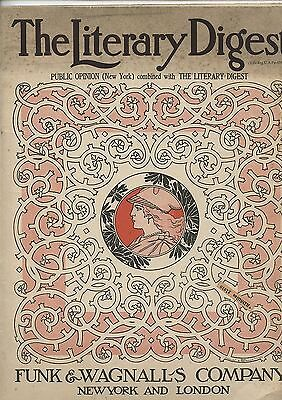 Old September 17, 1910 Literary Digest Magazine Charles Wright Cover