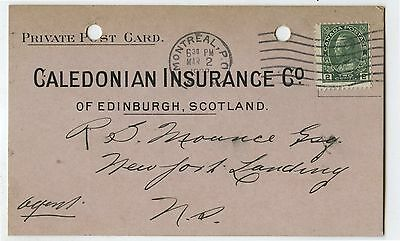 Old 1923 Advertising Postcard Caledonian Insurance Co Montreal QC