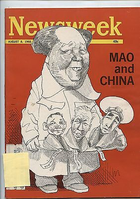 Old August 8, 1966 Newsweek Magazine Mao and China