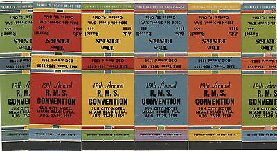 6 Old Matchbook Covers 19th R.M.S.Convention The Finks
