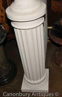 Classic Italian Marble Doric Column Pedestal Stand Table