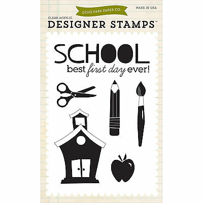 """""""Echo Park Stamps 4""""""""X6""""""""-Back-To-School"""""""