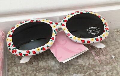 Accessorize Girls Sunglasses 100% Uv Protection With Pouch *bnwt*