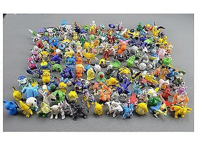 72Pcs Hot Cute 2-3cm Pokemon Mini Random Pearl ct Figures Toy Party Gifts JNEG