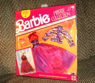 1990 Barbie Private Collection Fashions #7113 Nrfb!