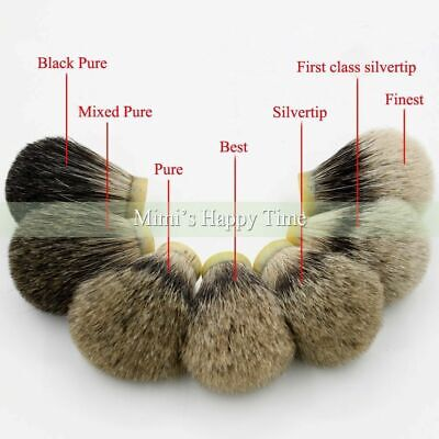 18-29mm Silvertip Best Pure Black Badger Hair Knot Wet Shaver Shaving Brush Tool