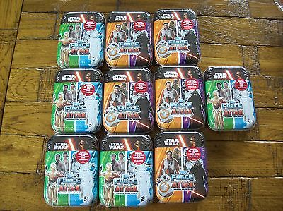10 X Topps STAR WARS FORCE ATTAX Collector Tins