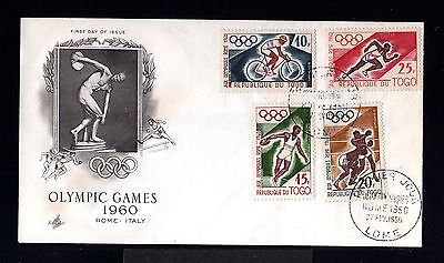 10202-REPUBLIQUE du TOGO-FIRST DAY COVER LOME.1960.Olympic games ROMA.FRENCH.FDC