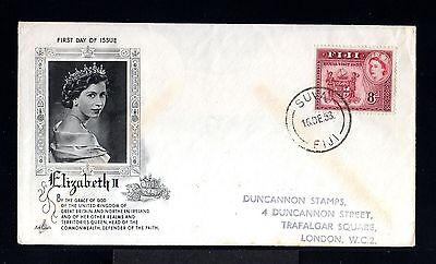 10195-FIJI ISLAND-FIRST DAY COVER SUVA.1953.British.ELIZABETH II.Commonwealth.