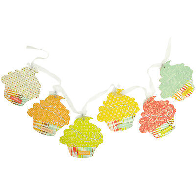 """Beyond The Page MDF Cupcake Pennant 6/Pkg-5""""X5"""""""