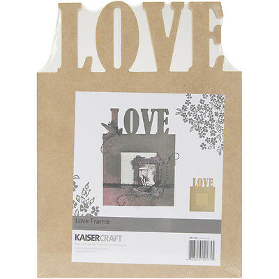 """""""Beyond The Page MDF Love Frame-7.5""""""""X10""""""""X.5"""""""", 4""""""""X4"""""""" Opening"""""""