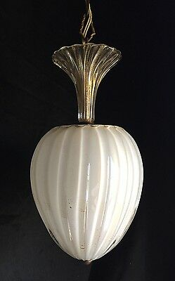 Vintage 1950's MURANO MID CENTURY Glass Pendant BAROVIER & TOSO Chandelier Light
