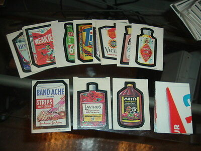 1973 Topps Wacky Packages 1st Series Tan Back Stickers Complete Set w/ Tandache