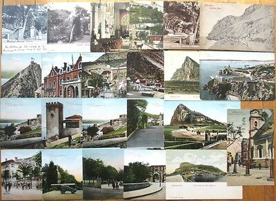 GIBRALTAR: Collection of 23 Nice, Early Postcards - c. 1910