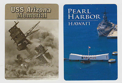 U.s.s.*arizona* & Pearl Harbor X 2 Only Sgl. Playing/swapcards..naval Battle