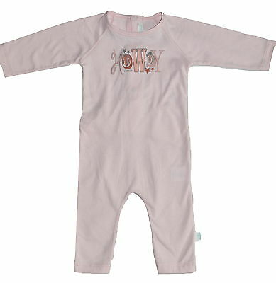 Marie Chantal Footless One Piece Baby Grow Pink 3 Months (0-3) NWOT