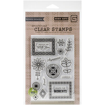 Basic Grey Prism Clear Stamps By Hero Arts-Spending Time With You