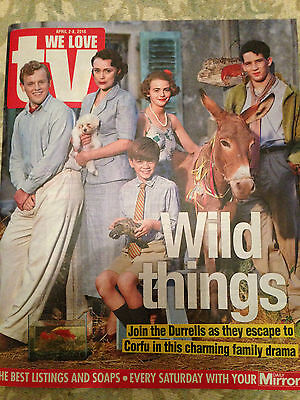 WE LOVE TV Magazine 04/2016 KEELEY HAWES The Durrells Michael Ball Tilly Keeper