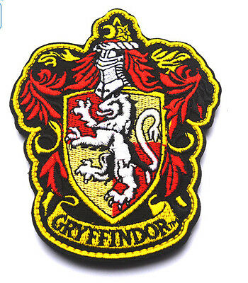 Harry Potter House of Gryffindor Crest Logo  Embroidered   PATCH  sh+  445