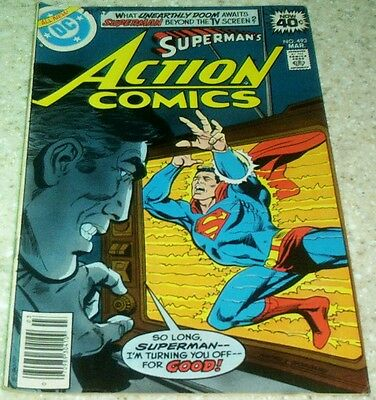 Action Comics 493, VF- (7.5) 1979 Superman! 50% off Guide!