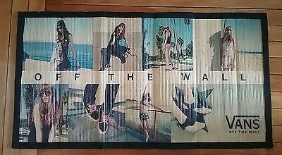 Vans Off the Wall Store Display Sign Promotional Graphic Pictural Bamboo Mat