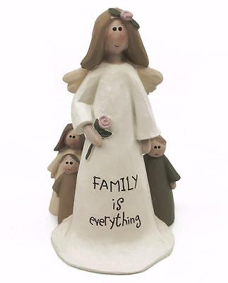 Family Is Everything Angel Ornament Cute Sentiment Gift PHD082 HS