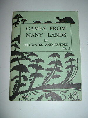 VINTAGE 1962 GAMES FROM MANY LANDS FOR BROWNIES AND GUIDES No2