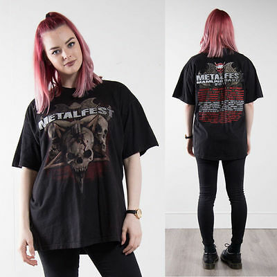 Womens Metal Fest Metalfest Unisex T-Shirt Top Oversize Short Sleeve Rock 16