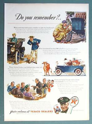 Original 1944 Texaco Ad YOUR WELCOME AT TEAXACO DEALERS... DO YOU REMEBER