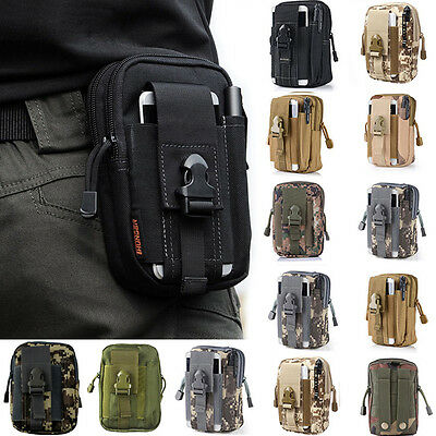 Mens Military Tactical Waterproof Waist Pack Purse Mini Outdoor Sport Small Bag