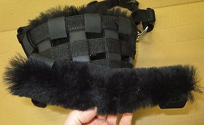 Mini Size Sheepskin Noseband Pad fits Best Friend Horse Grazing Muzzle others