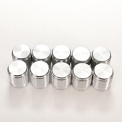 10x Aluminum Knobs Rotary Switch Potentiometer Volume Control Pointer Hole 6mm S