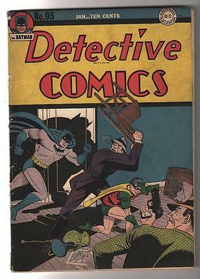 DC Detective Comics BATMAN Golden age #95 1945  VG The blaze
