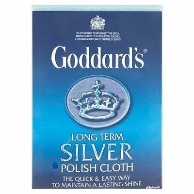 Goddards Long term SILVER POLISH CLOTH Quick & Easy Polishing Lasting Shine