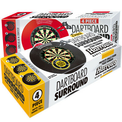 Harrows Darts 4 Piece Easy Assembly Dartboard Surround - Black or Red rrp£40