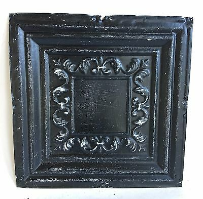 "12"" x 12"" Antique Tin Ceiling Tile Metal 95A  Black *SEE OUR SALVAGE VIDEOS*"