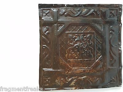 """12"""" x 12"""" Antique Tin Ceiling Tile A4A Metal Rust *SEE OUR SALVAGE VIDEOS*"""