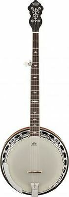 "Gretsch G9400 Broadkaster ""Deluxe"" 5-String Resonator Banjo Zinc Alloy Tone-Ring"
