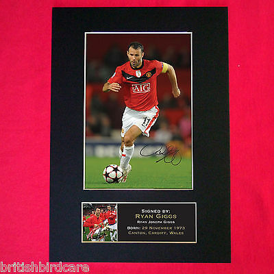 RYAN GIGGS Mounted Signed Photo Reproduction Autograph Print A4 46
