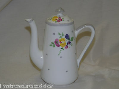 Adderley China England Small 2 Cup Coffee Pot Teapot