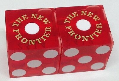 FOUR QUEENS HOTEL PAIR USED GREEN DICE LAS VEGAS NV FREE SHIPPING* CASINO DICE