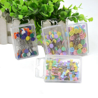100X Patchwork Pins Flower Button Head Pins DIY Quilting Tool Sewing Accessories