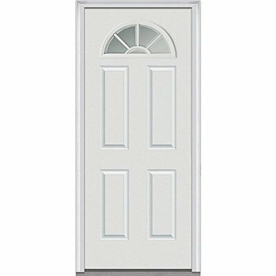 National Door Company Z000284R Fiberglass Smooth Prehung Right Hand In-Swing Ent