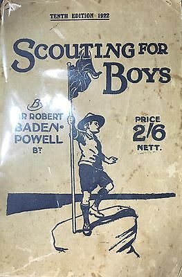 Rare Scout Book-Scouting For Boys 1922's By Robert Baden Powell Paper Cover