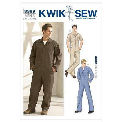 Kwik Sew Sewing Pattern Men's Coveralls Size S M L Xl Xll K3389