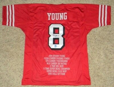 107e788c2 Steve Young Signed Autographed San Francisco 49Ers  8 Stat Jersey Jsa + Holo