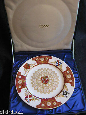 "SPODE 10"" COLLECTOR'S PLATE 'THE YORK MINSTER PLATE' 1972 Ltd edition Mint boxed"