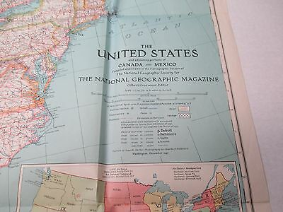 1940 NATIONAL GEOGRAPHIC Map The United States, Mexico, And Canada ...