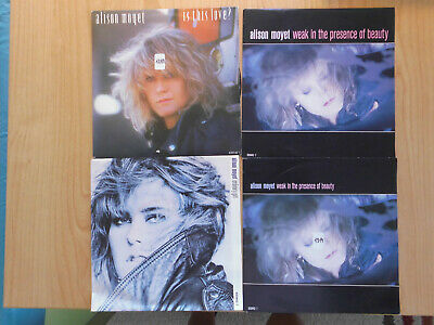 "ALISON MOYET 7 x 7"" SINGLES: INVISIBLE FOR YOU ONLY IS THIE LOVE? ALL CRIED OUT"